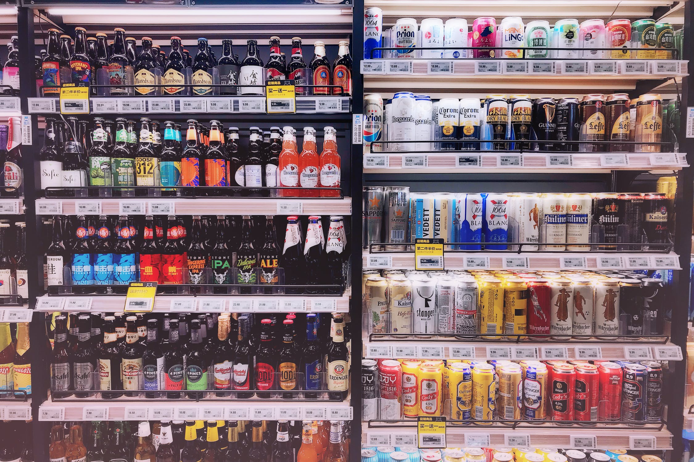 drinks and convenience foods