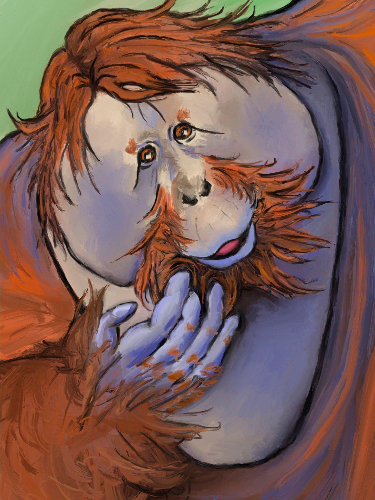 Orangutan by Oscar Frederick Welsh