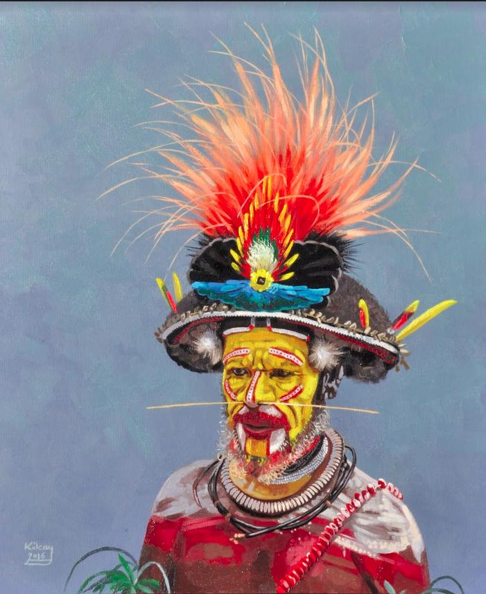 Papuan tribesman by Szabolcs Kókay