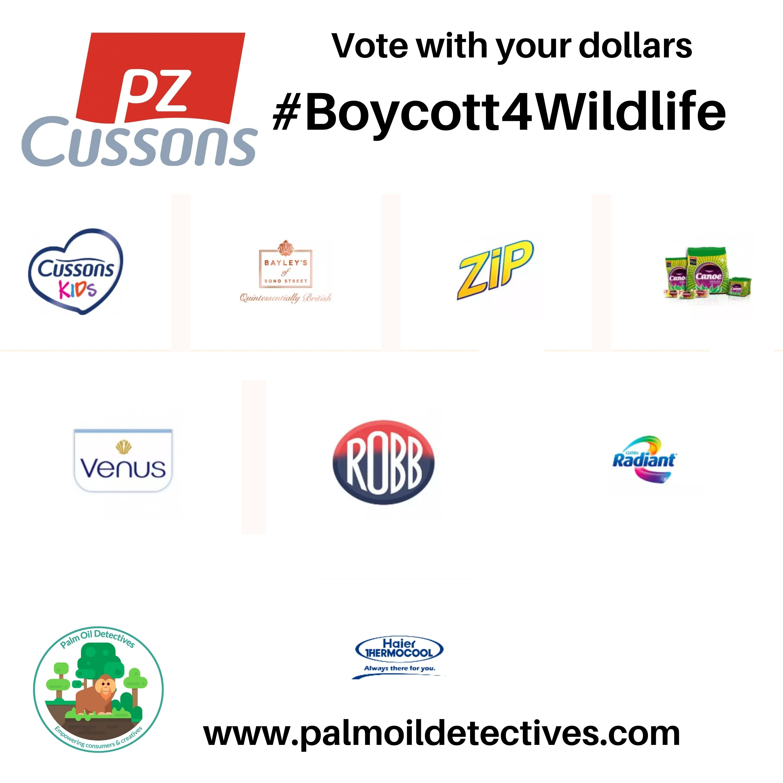 PZ Cussons Boycott 4 Wildlife Palm Oil Deforestation 2