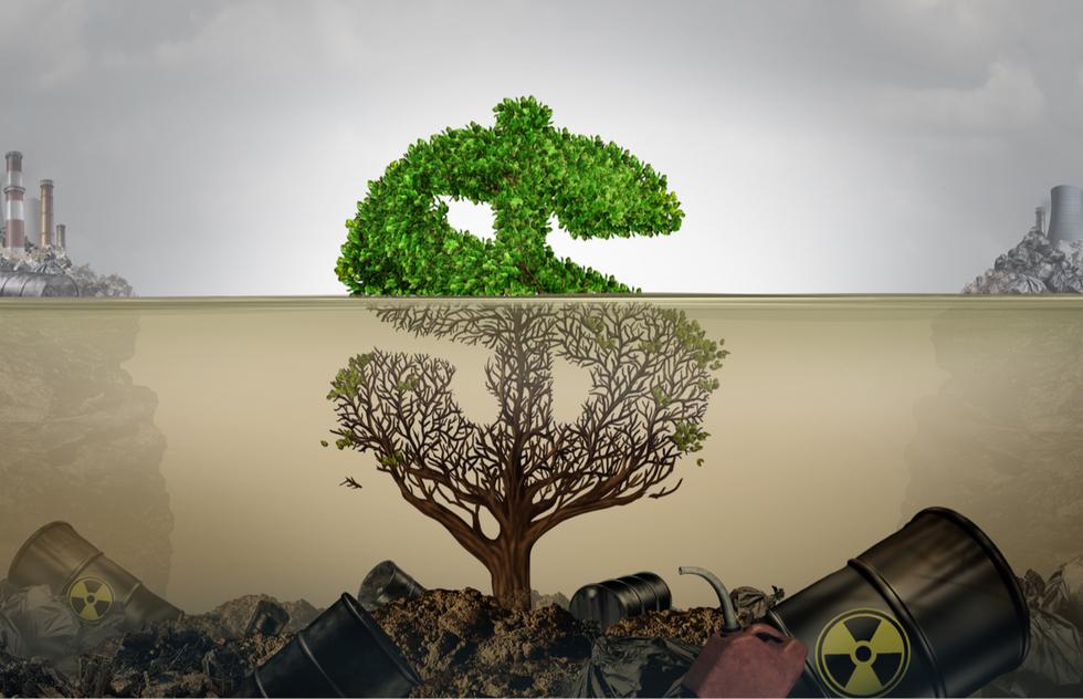 Greenwashing - stock image