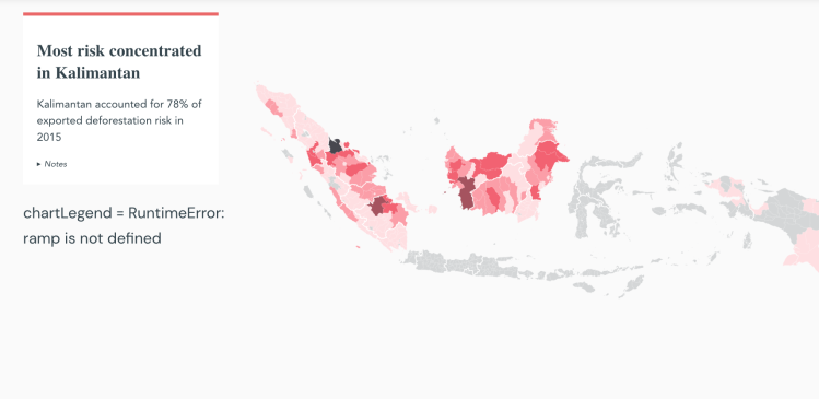 Most palm oil deforestation risk in Indonesia is concentrated on Kalimantan
